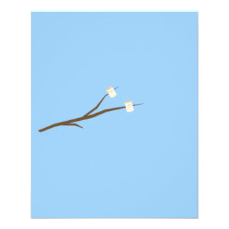 Marshmallows on stick 11.5 cm x 14 cm flyer