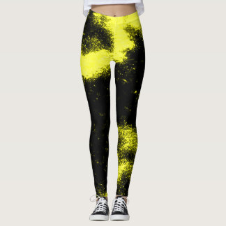 Marshmello Black & Yellow Rave Remix Dance Leggings