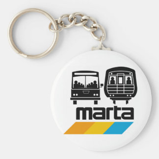 MARTA Bus and Train Basic Round Button Key Ring