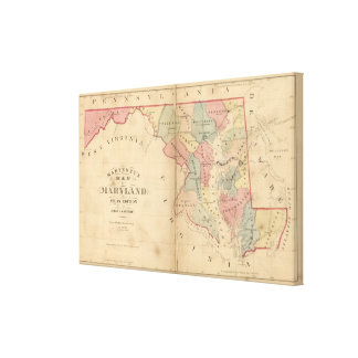 Martenet's Map of Maryland, Atlas Edition Canvas Print