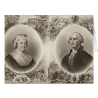Martha and George Washington 1876 Big Greeting Card