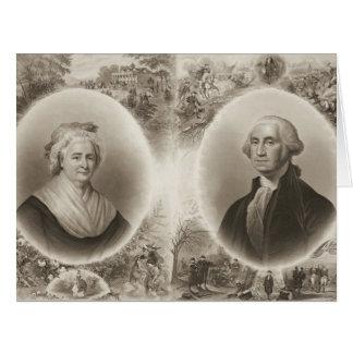 Martha and George Washington 1876 Big Greeting Card