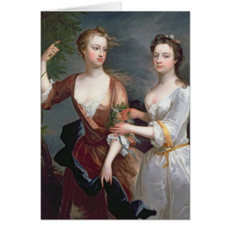 Martha and Teresa Blount, 1716 Card