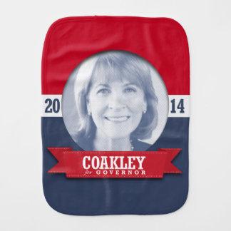 MARTHA COAKLEY CAMPAIGN BURP CLOTH