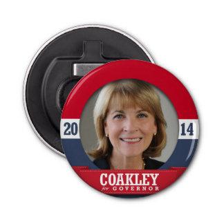 MARTHA COAKLEY CAMPAIGN BUTTON BOTTLE OPENER