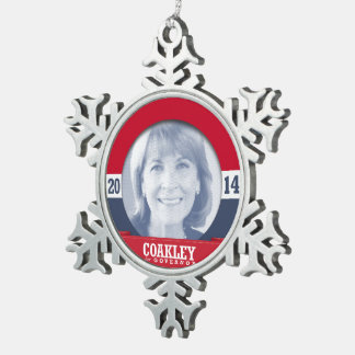 MARTHA COAKLEY CAMPAIGN PEWTER SNOWFLAKE DECORATION