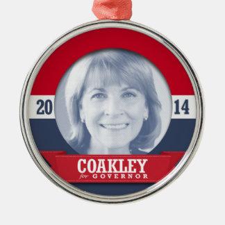 MARTHA COAKLEY CAMPAIGN Silver-Colored ROUND DECORATION