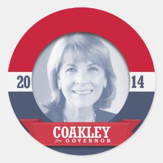 MARTHA COAKLEY CAMPAIGN CLASSIC ROUND STICKER