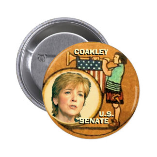 Martha Coakley Retro Button