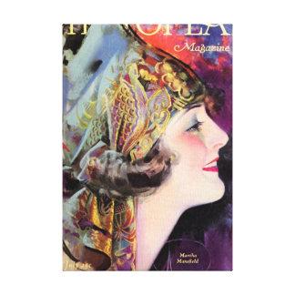 Martha Mansfield, Photoplay July 1920 Canvas Prints