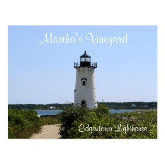 Martha s Vineyard Edgartown Lighthouse Post Card