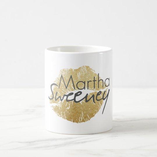 Martha Sweeney Gold Lips Coffee Mug