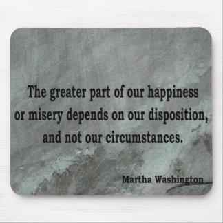 Martha Washington Quote Mouse Mat
