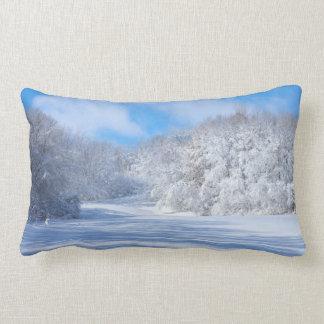 Marthaler Park Snowy Hills Lumbar Cushion