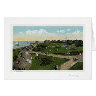 Martha's Vineyard, Aerial View of Ocean Park Card