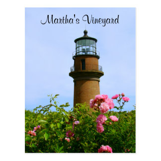 Martha's Vineyard Aquinnah Lighthouse Post Card