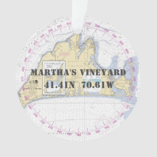 Martha's Vineyard Commemorative Nautical 2-Sided Ornament