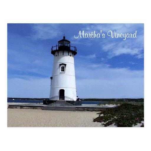 Martha's Vineyard Edgartown Lighthouse Post Card