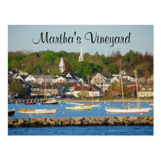 Martha's Vineyard Harbor Cape Cod Mass Post Card