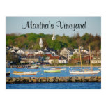 Martha's Vineyard Harbour Cape Cod Mass Post Card