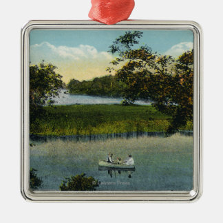 Martha's Vineyard, Lake Tashmoo Scene Christmas Ornament