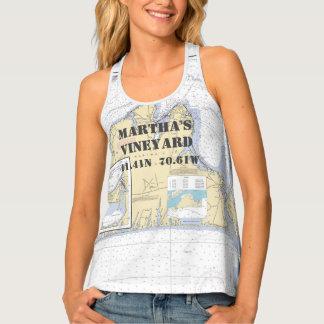 Martha's Vineyard Latitude Longitude Boater's Tank Top