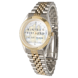 Martha's Vineyard Latitude Longitude Boater's Watch