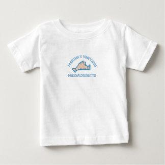 "Martha's Vineyard ""Map"" Design. Baby T-Shirt"
