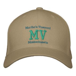 """Martha's Vineyard, Massachusetts """"MV"""" Embroidered Hat"""