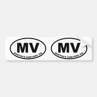 Martha's Vineyard MV Bumper Sticker