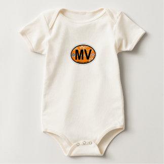 Martha's Vineyard Oval Design. Baby Bodysuits