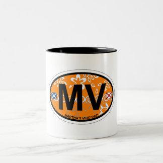 Martha's Vineyard Oval Design. Two-Tone Mug