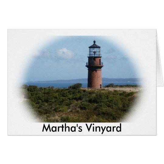 Martha's Vinyard Light House Card
