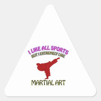 Martial art designs triangle sticker