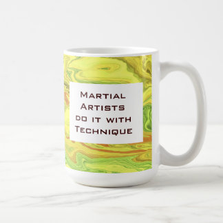 Martial artists do it with technique basic white mug