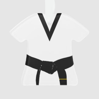 Martial Arts 1st Degree Black Belt Uniform Ornament