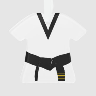 Martial Arts 4th Degree Black Belt Uniform Ornament