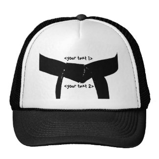 Martial Arts Basic Black Belt Hat