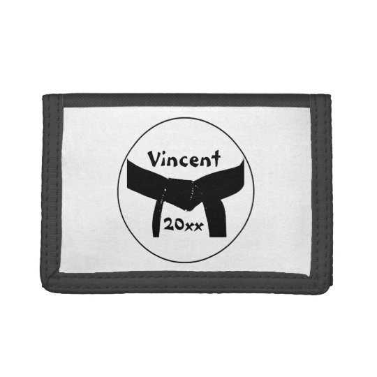 Martial Arts Basic Black Belt Wallet