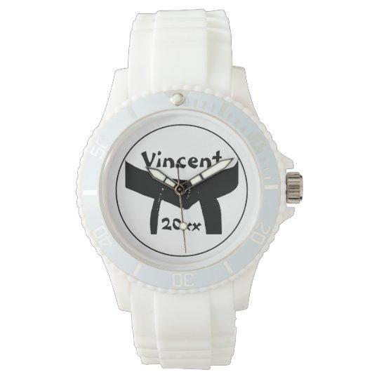 Martial Arts Basic Black Belt Wrist Watch