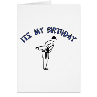 Martial Arts Birthday Card Design
