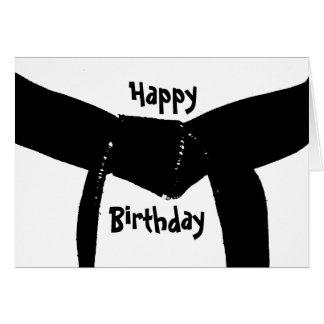 Martial Arts Black Belt Birthday Note Card