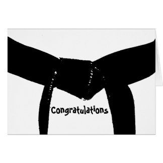 Martial Arts Black Belt Congratulations Card