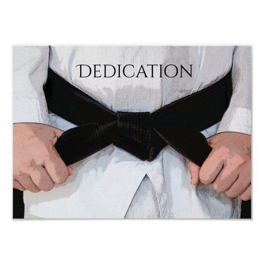 Martial Arts Black Belt Dedication Motivational Poster