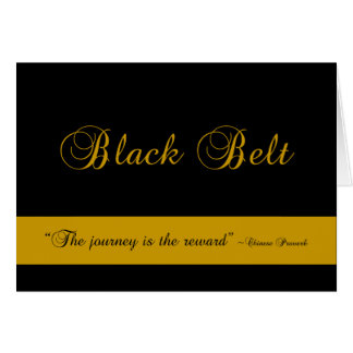 Martial Arts Black Belt Journey Congratulations Note Card