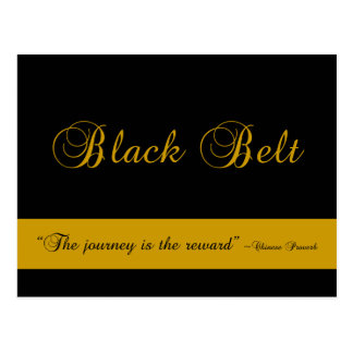 Martial Arts Black Belt Journey Congratulations Postcard