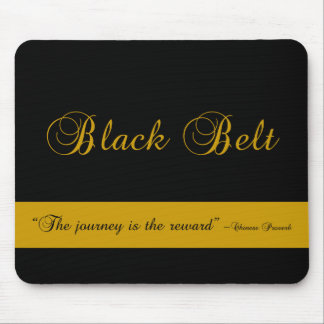 Martial Arts Black Belt Journey Mouse Mat