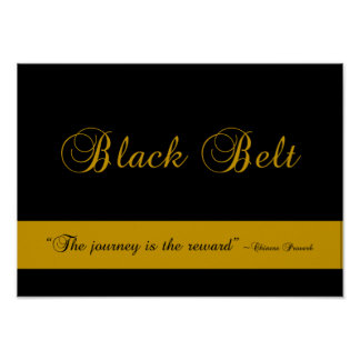 Martial Arts Black Belt Journey Poster Print