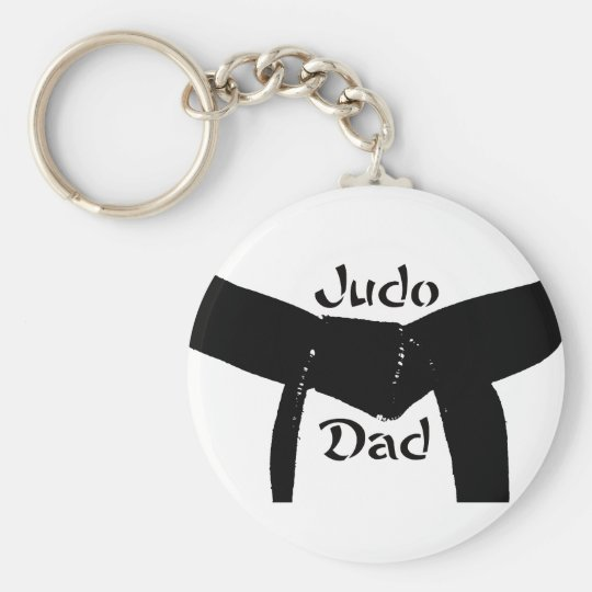 Martial Arts Black Belt Judo Dad Keychain