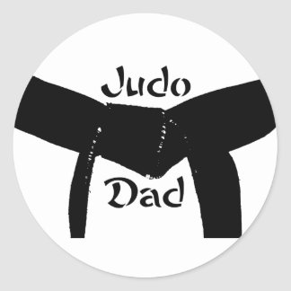 Martial Arts Black Belt Judo Dad Sticker